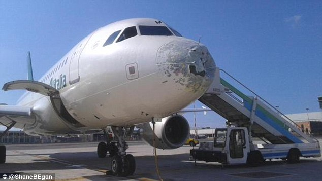 2B847D2300000578-3204511-The_Alitalia_plane_was_heavily_damaged_on_the_nose_area_after_ma-a-4_1440066636241