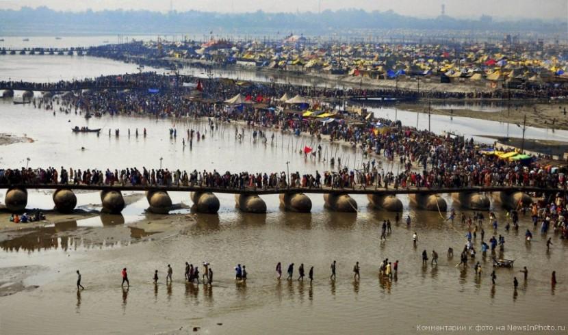 В Индии проходит Кумбха-мела — важная дата для индуистской традиции