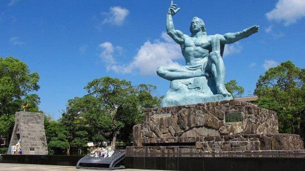 Обновление памятника жертв ядерного оружия в Нагасаки