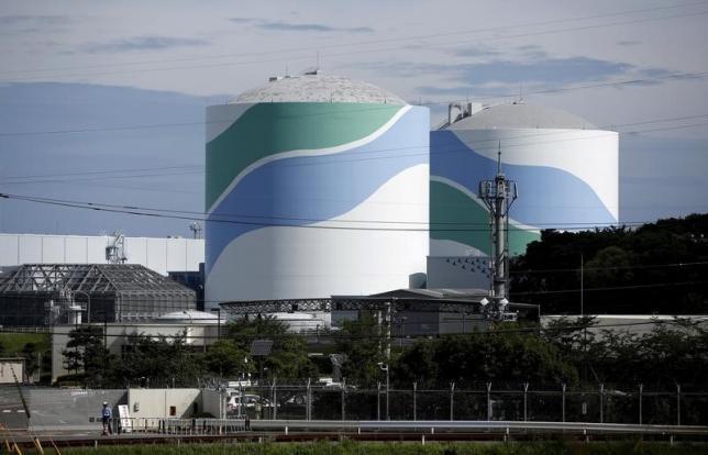 No.1 and No.2 reactor buildings are seen at Kyushu Electric Power's Sendai nuclear power station in Satsumasendai, Kagoshima prefecture, Japan