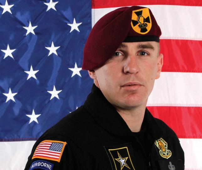 Undated photo of Army Golden Knights parachutist Corey Hood