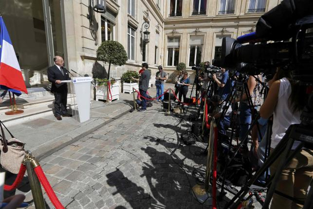 French Interior Minister Bernard Cazeneuve attends a news conference at the Interior ministry in Paris, France, August 22, 2015. REUTERS/Regis Duvignau
