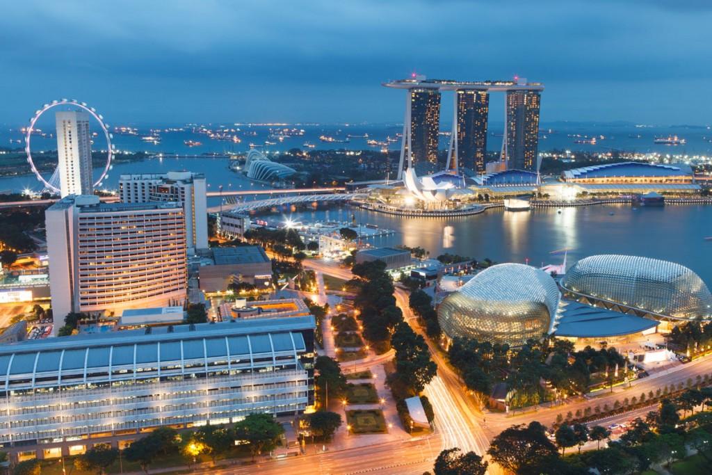 Красивый_вид_на_вечерний_Сингапур