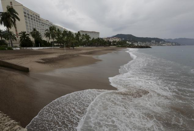 Hotels pictured after tourists were evacuated as Hurricane Patricia approaches the Pacific beach resort of Puerto Vallarta, Mexico