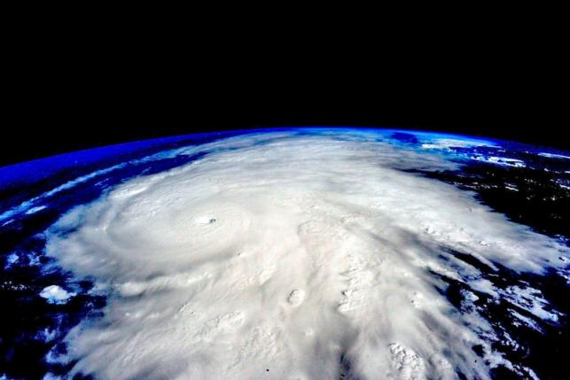 Hurricane Patricia, a Category 5 storm, is seen approaching the coast of Mexico in a NASA picture