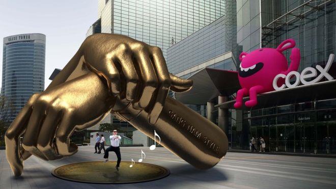 Район Гангнам в Сеуле обзаведется оригинальной скульптурой