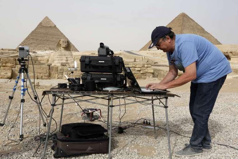 В Египте исследуют пирамиду Хуфу при помощи технологии инфракрасных лучей