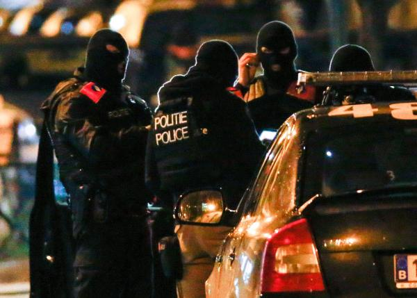 Belgian special police forces take part in an operation in the neighborhood of Molenbeek in Brussels