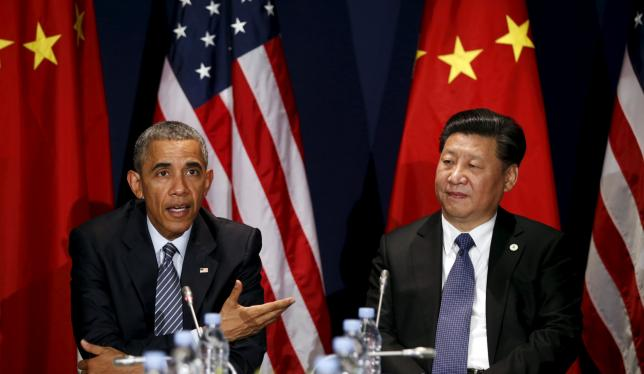 U.S. President Barack Obama meets with Chinese President Xi Jinping at the start of the two-week climate summit in Paris