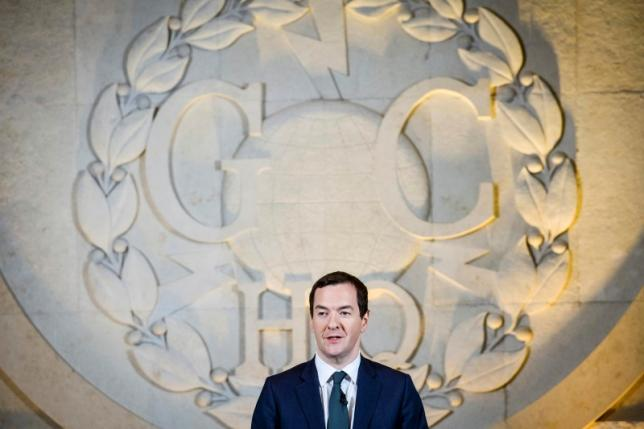 Britain's Chancellor of the Exchequer George Osborne delivers a speech on his spending review at GCHQ in Cheltenham