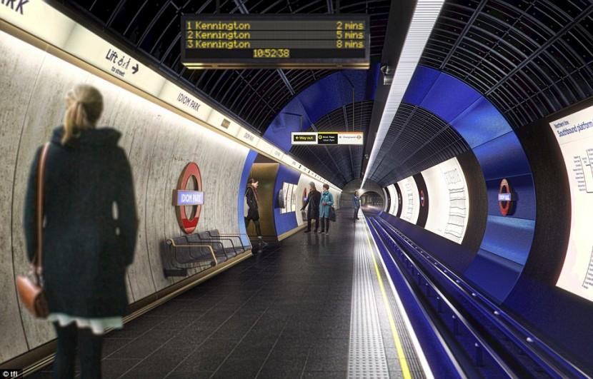 Студия Egret West представила обновленный проект Лондонской подземки