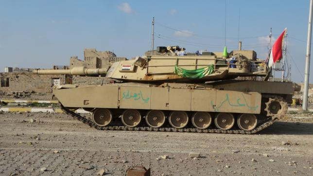 A tank of the Iraqi security forces is seen in Ramadi