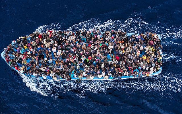 Число мигрантов на долю населения некоторых стран