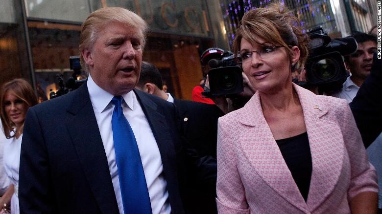 Сара Пэйлин поддерживает Трампа в президентской гонке