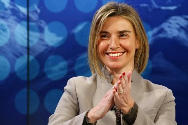 High Representative of the European Union for Foreign Affairs and Security Policy Mogherini attends the annual meeting of the World Economic Forum (WEF) in Davos