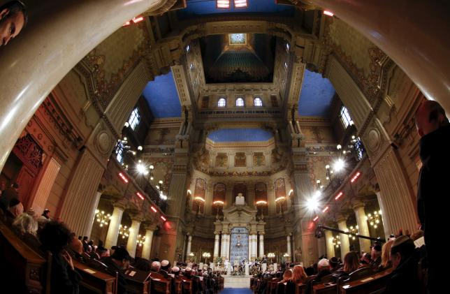 Pope Francis visits the Rome's Great Synagogue