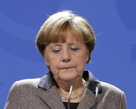 German Chancellor Merkel makes statement on Istanbul attack at Chancellery in Berlin