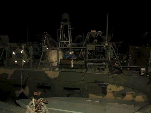 An undated picture released by Iran's Revolutionary Guards website shows the U.S. boat detained by Iran, in an unknown place, Iran