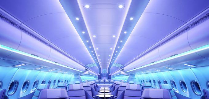 Airbus обновил внутреннее убранство