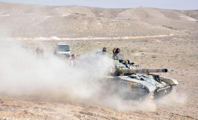 Сирийские войска сражаются за освобождение Пальмиры