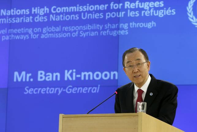 Генсек ООН призывает ускорить размещение беженцев