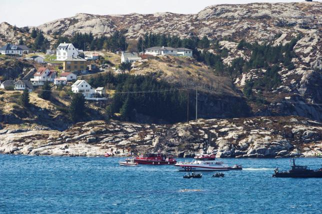 В Норвегии разбился пассажирский вертолет