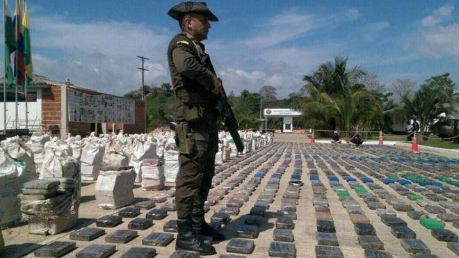 В Колумбии изъята рекордная партия кокаина