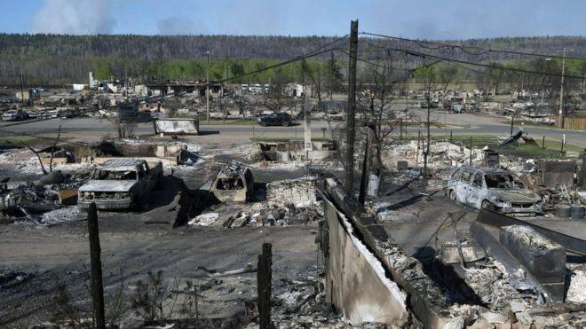 Канадцы страдают из-за пожаров