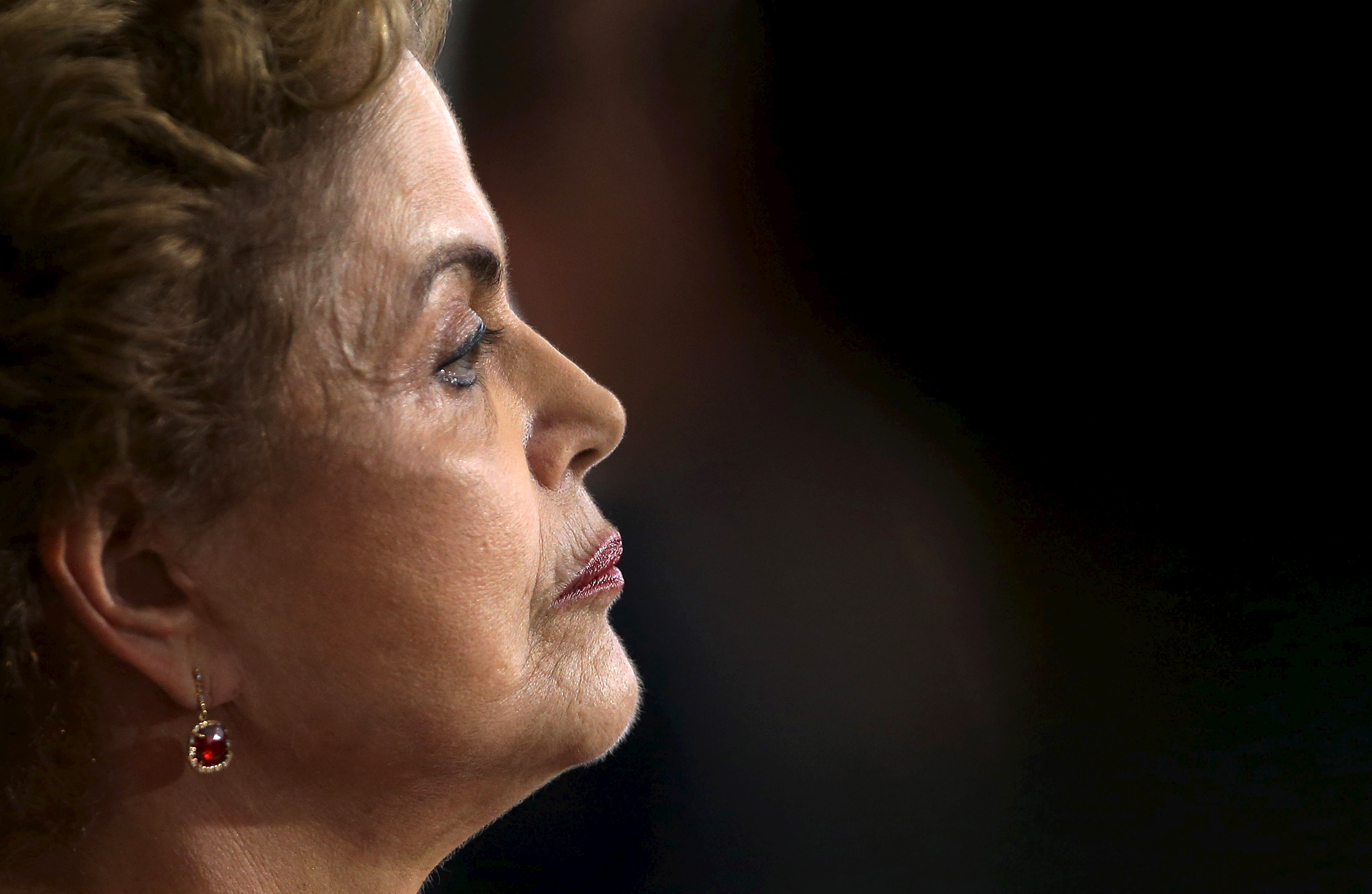 Brazil's President Rousseff attends a news conference at the Planalto Palace in Brasilia