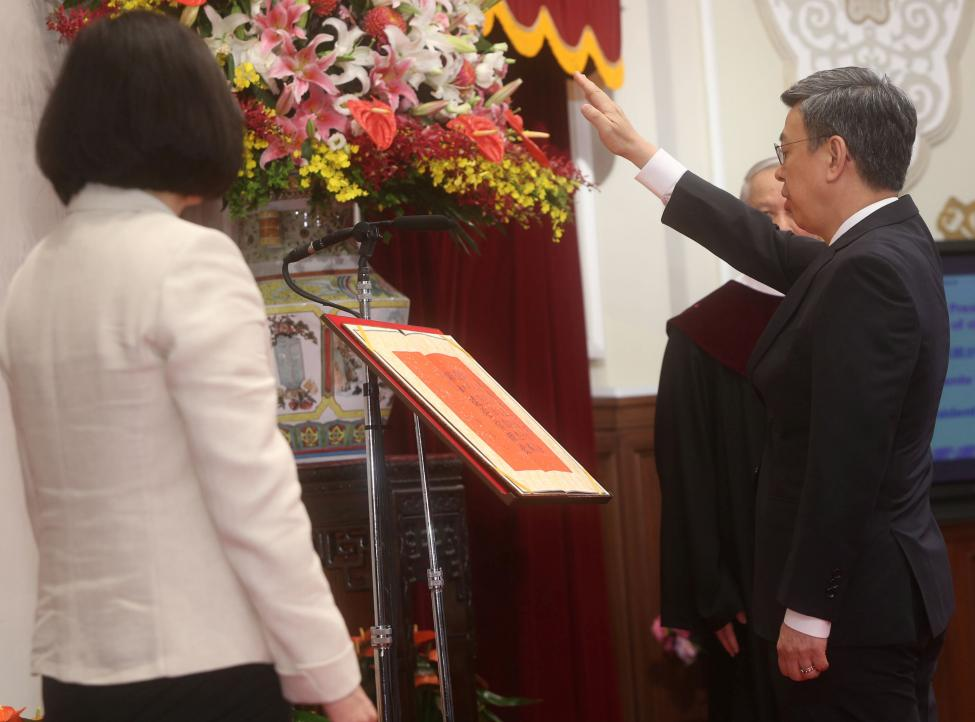 Chen Chien-jen swears in as Vice President in Taipei