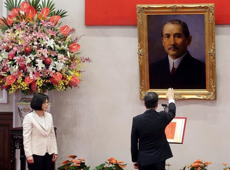 Chen Chien-jen swears in as Vice President in Taipei