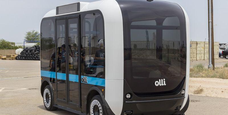 В США на 3D-принтере напечатали беспилотный микроавтобус