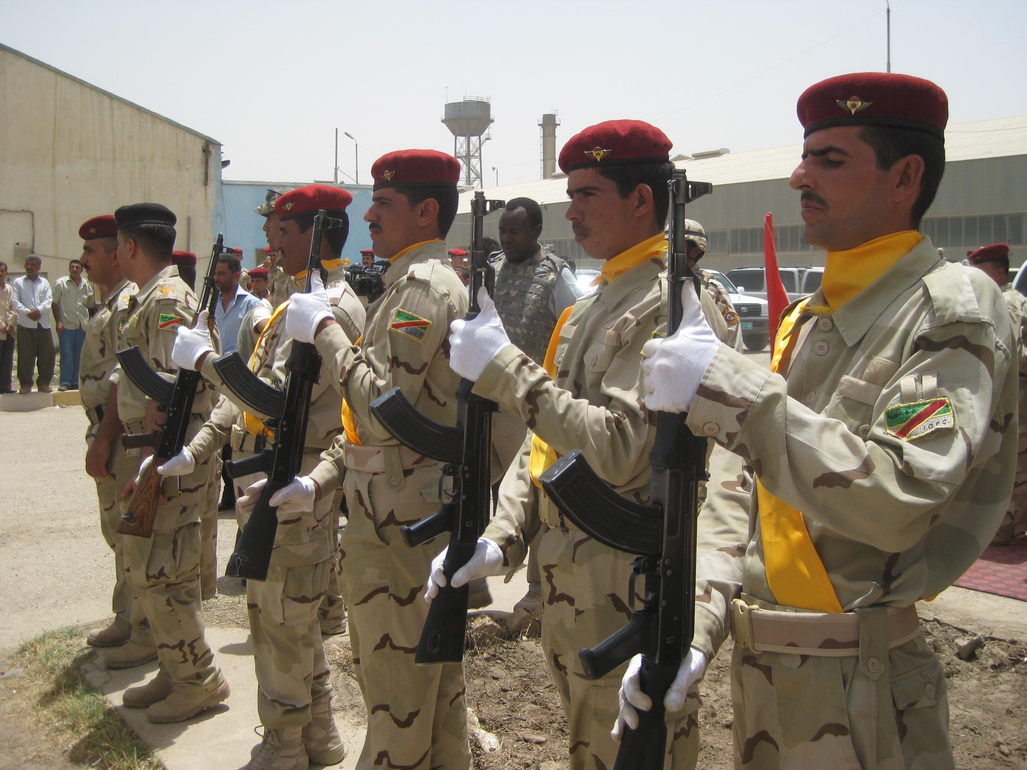 U.S.-Iraqi base transfer ceremony near Majaar Al Kabir