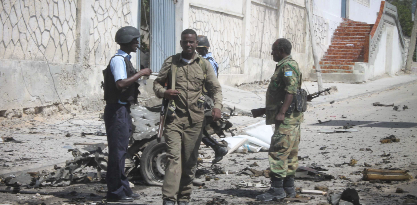 At least four dead after a suicide bomber attackedUN convoy in Mogadishu
