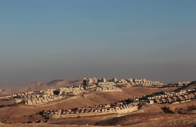 A view of the West Bank Jewish settlement of Maale Adumim is seen near Jerusalem