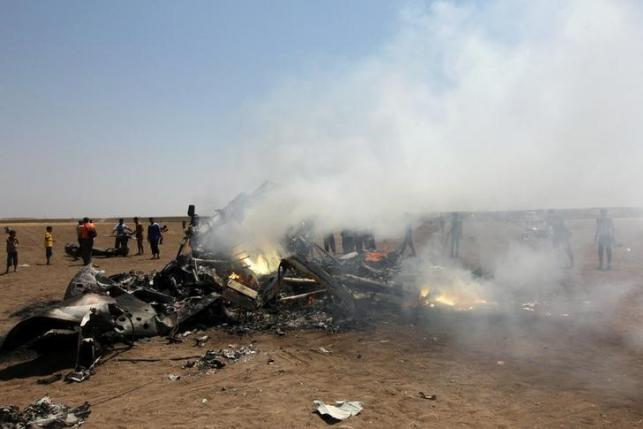 Неизвестный вертолет сбросил газовые контейнеры над городом Саракеб