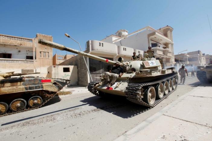 Ливийские войска освободили центральный район Сирта