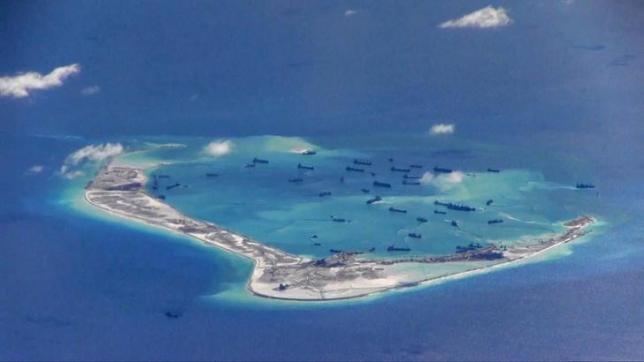Китай строит воздушные ангары на территории архипелага Спратли