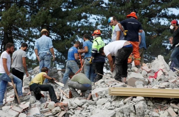 По центральной Италии прокатилось мощное землетрясение