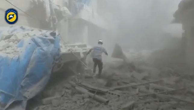 Газовая атака в Алеппо привела к десяткам пострадавших
