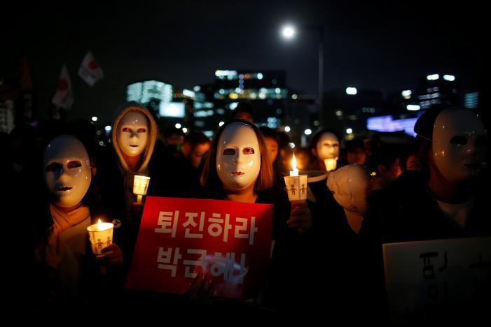 В Сеуле произошел очередной протест против президентства Пак Кын Хе