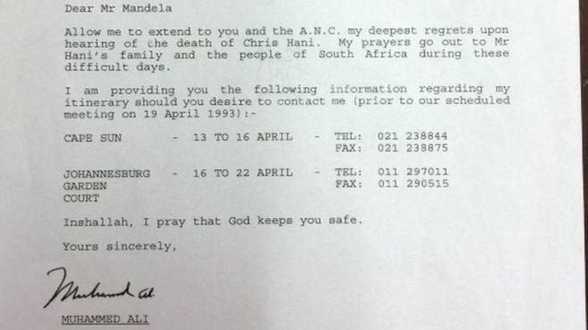 Письмо Мухаммеда Али продано за 7200 фунтов