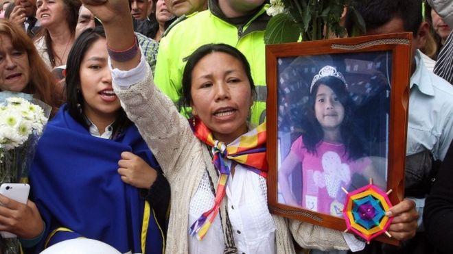 Колумбия возмущена убийством маленькой девочки