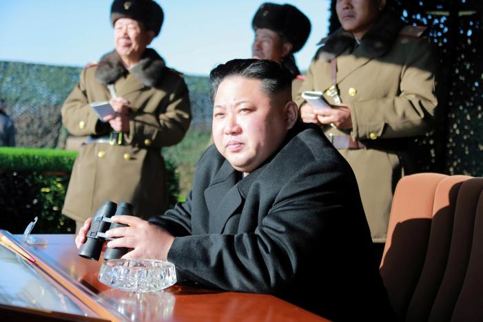 Лидер КНДР возглавил учебную операцию, нацеленную на Южную Корею