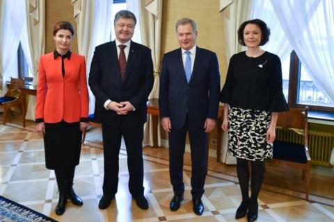 Порошенко провел встречу с президентом Финляндии