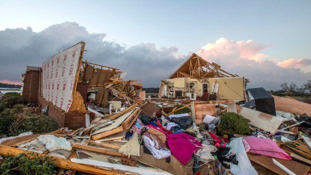 На США обрушился смертоносный шторм