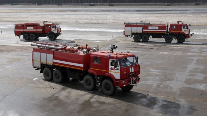 В России 8 человек сбила пожарная машина