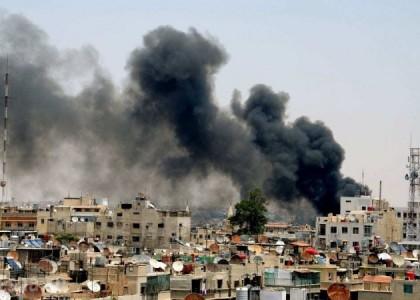 Асад бомбит Дамаск