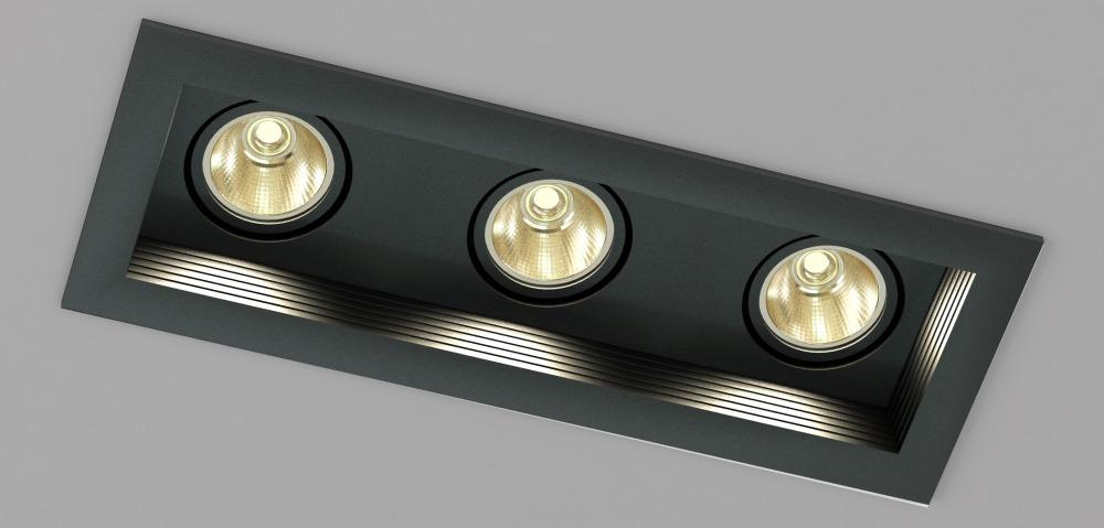 Встраиваемые светильники с металлогалогенными лампами