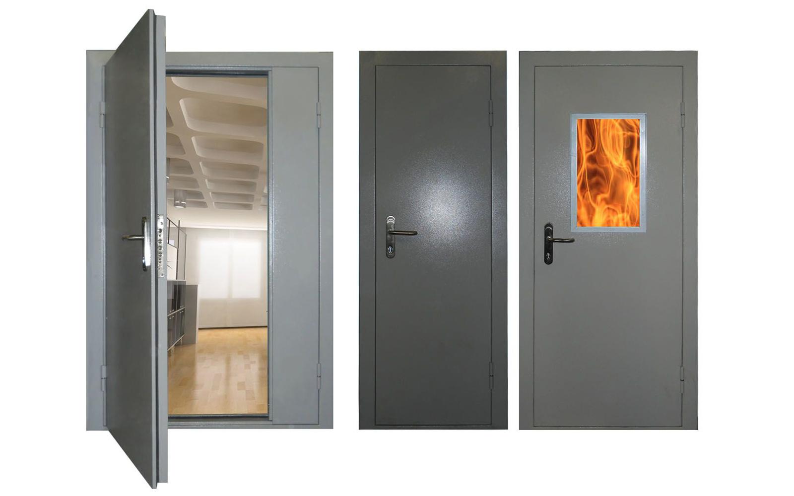 дверь металлическая противопожарна